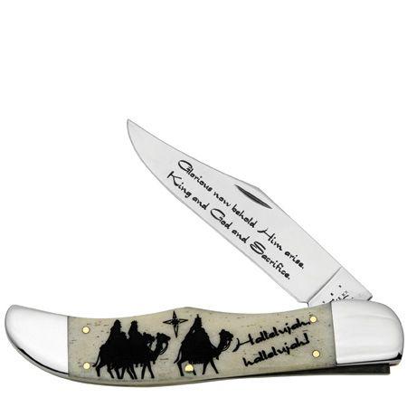 CASE XX KNIFE 10539 CHRISTMAS FOLDING HUNTER