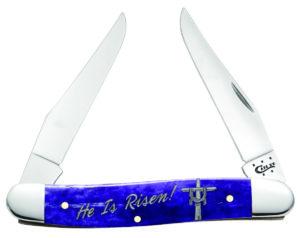CASE XX KNIFE 10551 EASTER PURPLE BONE MUSKRAT