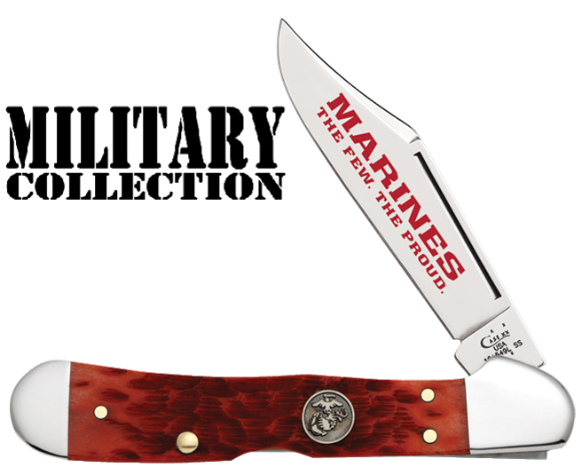 CASE XX KNIFE 13171 USMC DARK RED COPPERLOCK