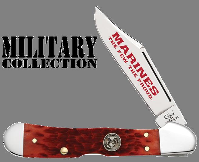 CASE XX KNIFE 13171 USMC DARK RED COPPERLOCK