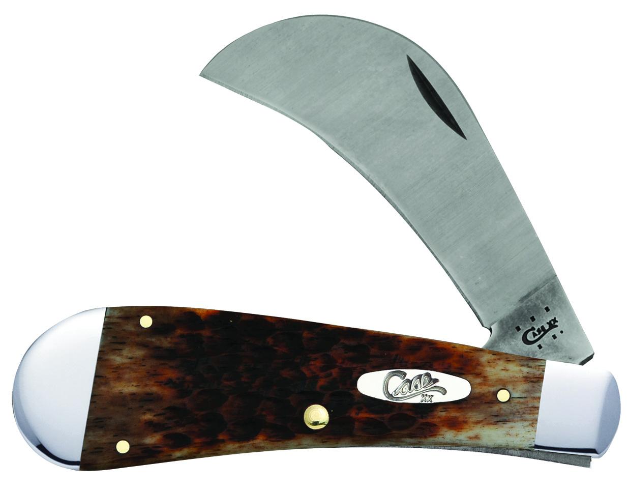 CASE XX KNIFE 41511 CARAMEL HAWKBILL PRUNER