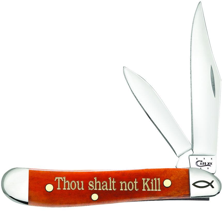 CASE XX KNIFE 10355 CHESTNUT BONE PEANUT