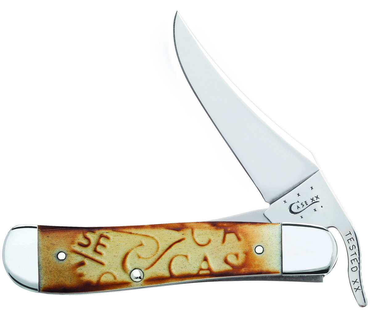 CASE XX KNIFE 31756 BURNT OATMEAL CARVED RUSSLOCK