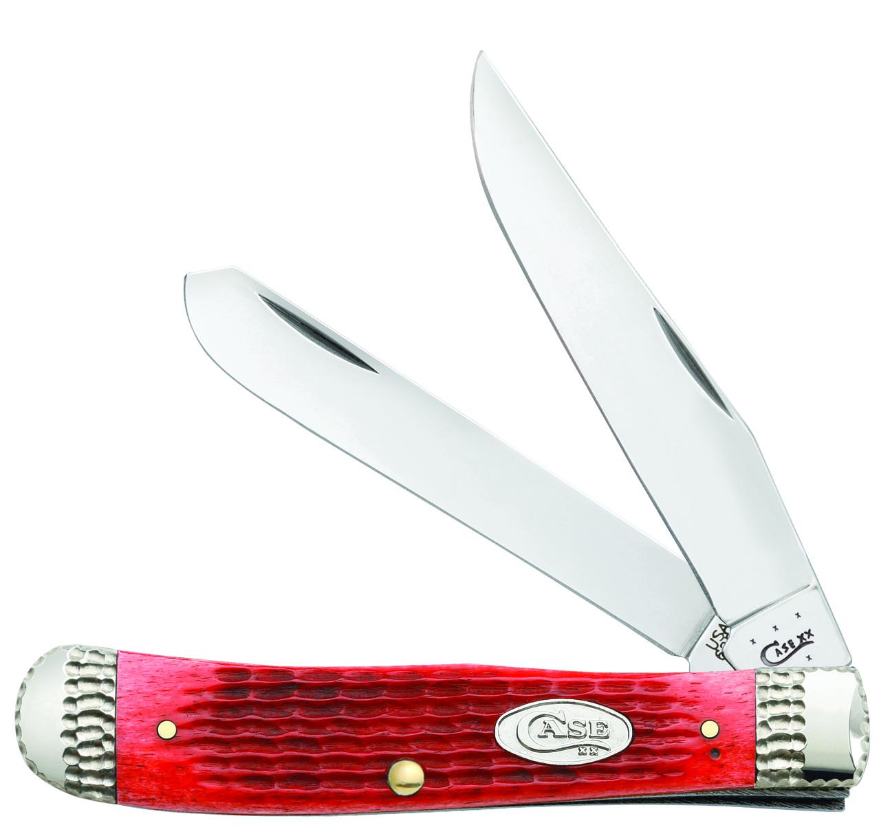 CASE XX KNIFE 53218 DARK RED BONE TRAPPER