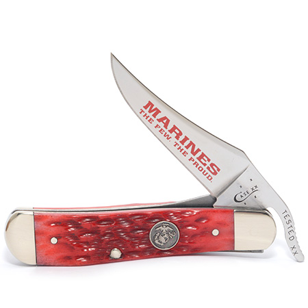 CASE XX KNIFE 13179 USMC DARK RED RUSSLOCK