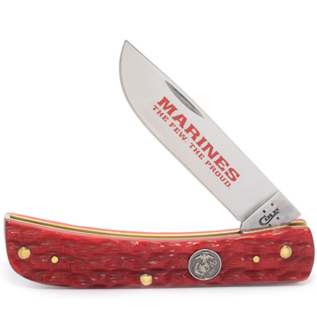 CASE XX KNIFE 13180 USMC DARK RED SOD BUSTER JR