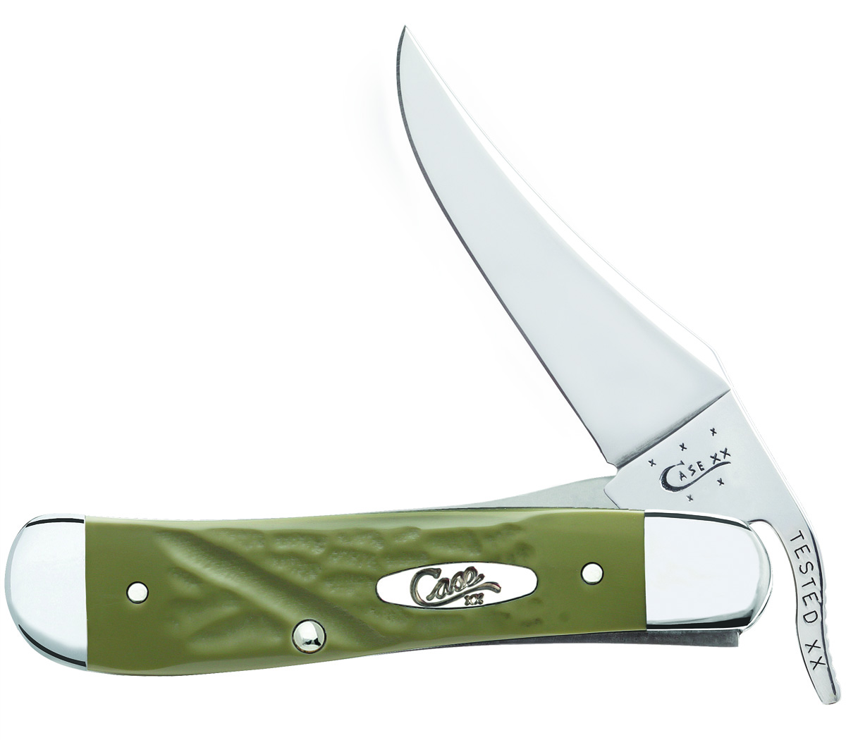 CASE XX KNIFE 63724 ROUGH OLIVE GREEN RUSSLOCK