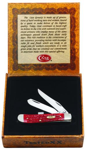 CASE XX KNIFE 30617 DARK RED BONE MINI TRAPPER