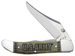 CASE XX KNIFE 15005 U S ARMY MID-FOLDING HUNTER