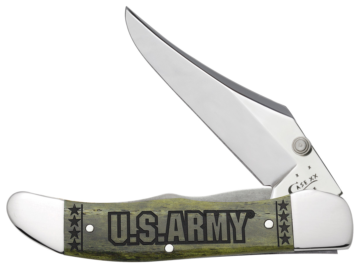 CASE XX KNIFE 15005 U S ARMY MID-FOLDING HUNTER