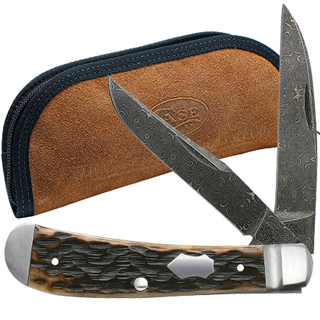 CASE XX KNIFE 7227 DAMASCUS WHARNCLIFFE TRAPPER