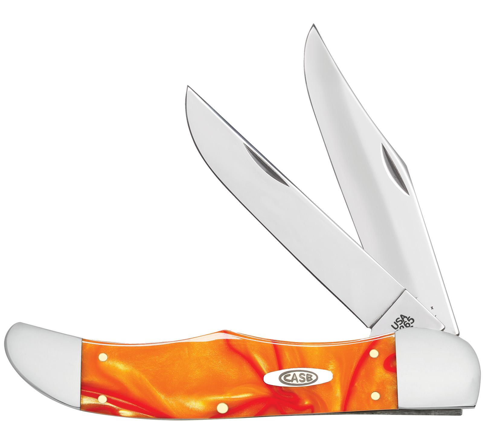 CASE XX KNIFE 25904 KIRINITE ORANGE PEARL FOLDING HUNTER
