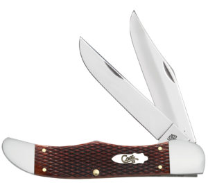 CASE XX KNIFE 26073 CHECKERED CHESTNUT FOLDING HUNTER