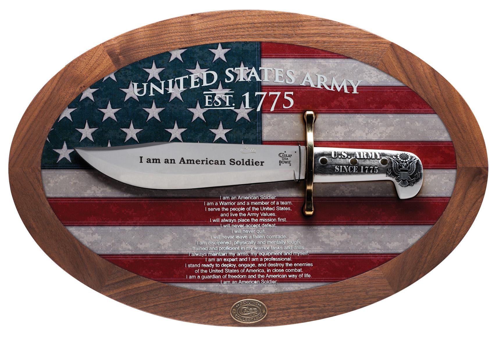 CASE XX KNIFE 15009 U S ARMY COMMEMORATIVE BOWIE