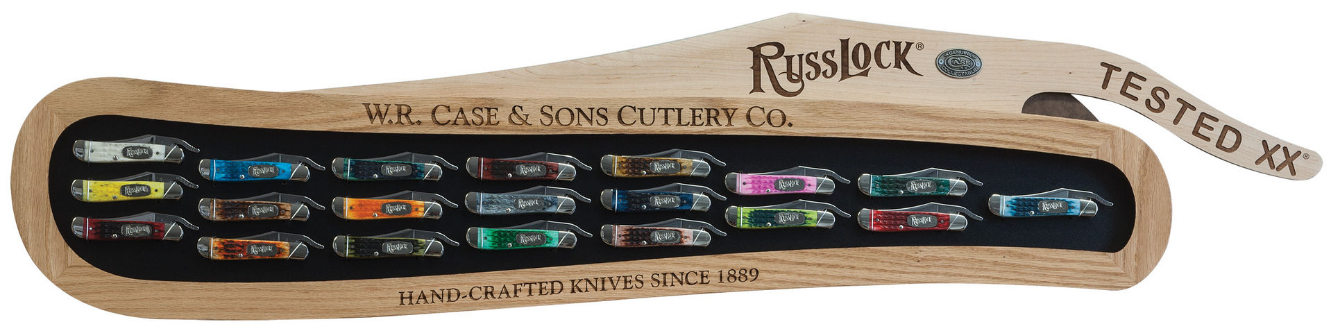 CASE XX KNIFE 21953 RUSSLOCK COMMEMORATIVE SET