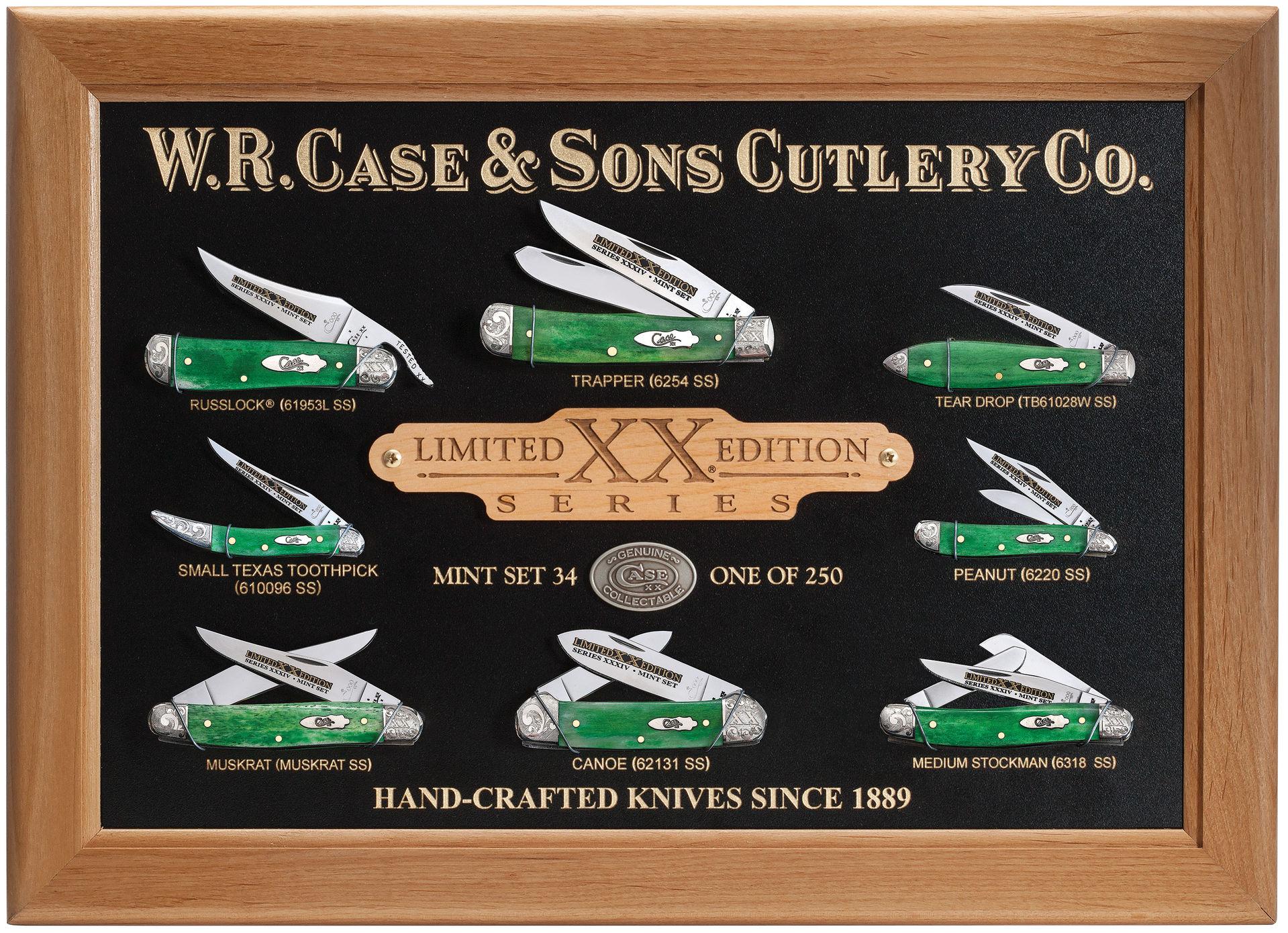 CASE XX KNIFE 11760 LIMITED XX EDITION XXXIV MINT SET
