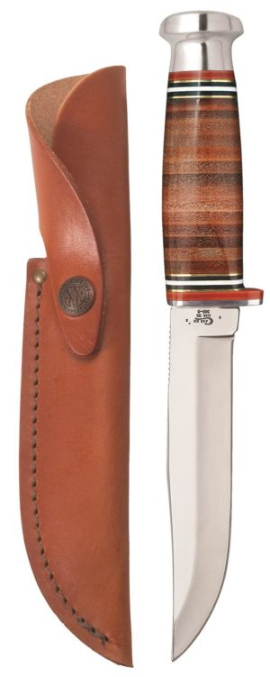 CASE XX KNIFE 10343 LEATHER HUNTER