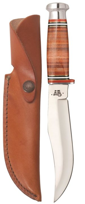 CASE XX KNIFE 10345 LEATHER HUNTER