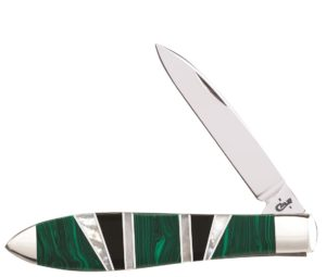 CASE XX KNIFE 11151 EXOTIC GREEN MALACHITE TEAR DROP