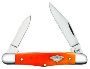 CASE XX KNIFE 12036 PERSIMMON ORANGE BONE HALF WHITTLER