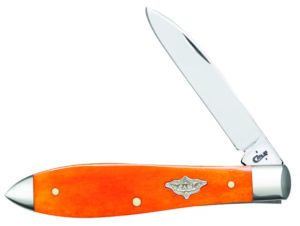 CASE XX KNIFE 12037 PERSIMMON ORANGE BONE TEAR DROP