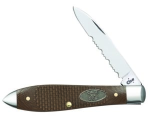 CASE XX KNIFE 23309 EARTH BROWN G-10 TEAR DROP