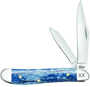 CASE XX KNIFE 64107 BLUE GIRAFFE BONE PEANUT