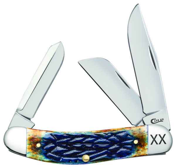 CASE XX KNIFE 61804 BURNT PURPLE BONE SOWBELLY