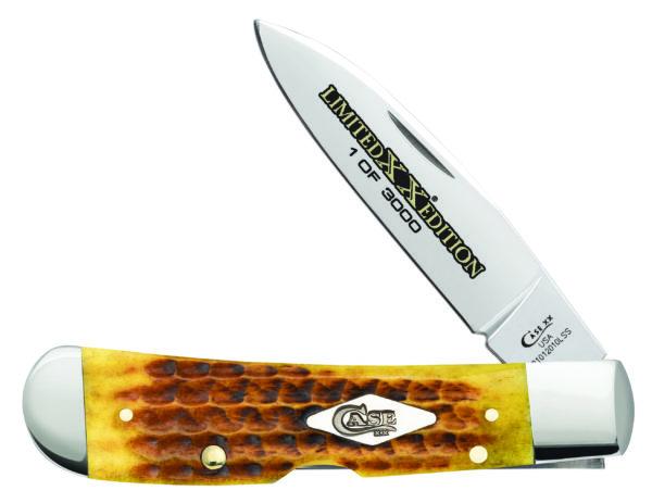 CASE XX KNIFE 11975 HONEYCOMB BONE TRIBAL LOCK
